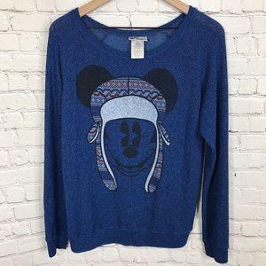 Disney Parks Micky blue lightweight sweater medium